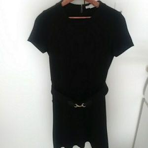 Classic Black Dress with horse bit belt size 4